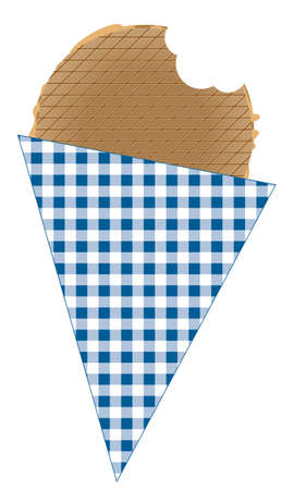 stroopwafel with bite out of it Illustration