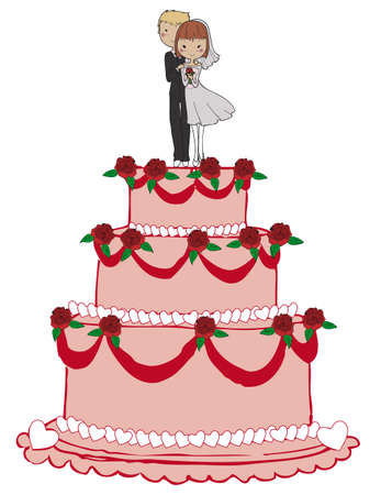 94 Wedding Cake Figurine Stock Illustrations Cliparts And Royalty