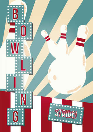 Bowling poster Illustration