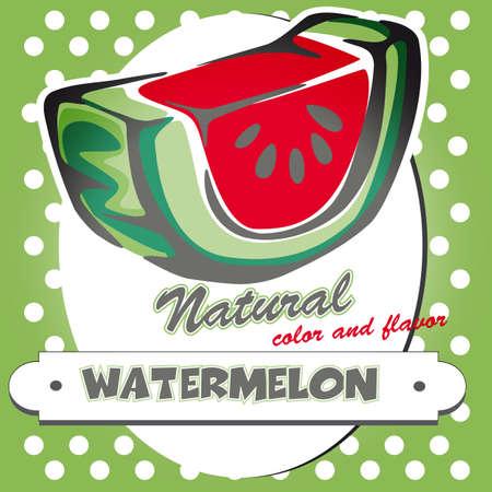 retro watemelon poster Illustration