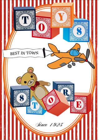 Vintage toys poster
