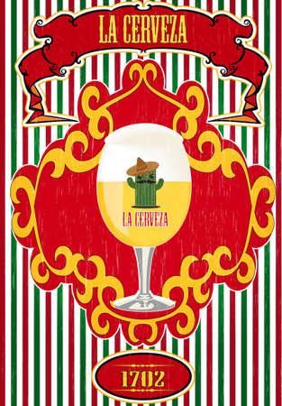 Beer poster Illustration