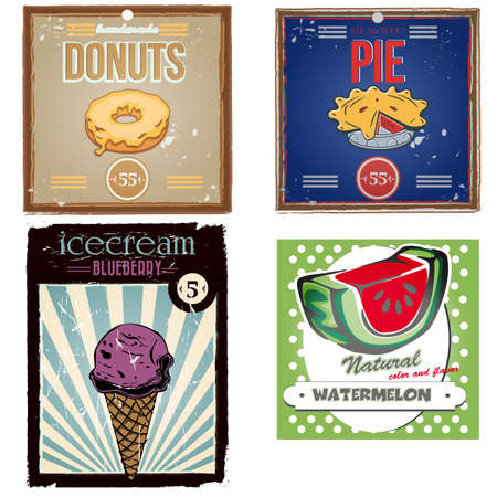 blueberry pie: Collection of vintage posters