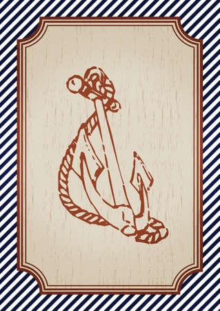 vintage anchor poster Illustration