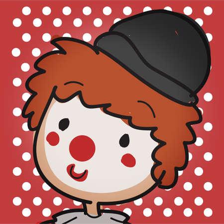 close up clown Illustration