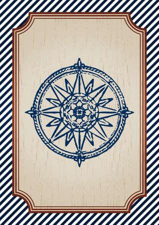 vintage nautical poster Illustration