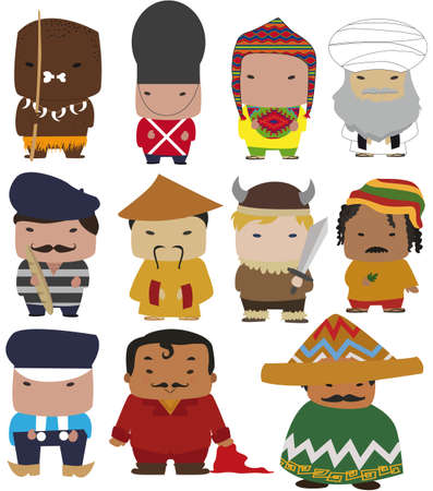 world characters Illustration