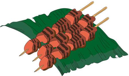 Asian dish sate Imagens - 38207109