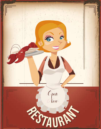 restaurant poster Illustration