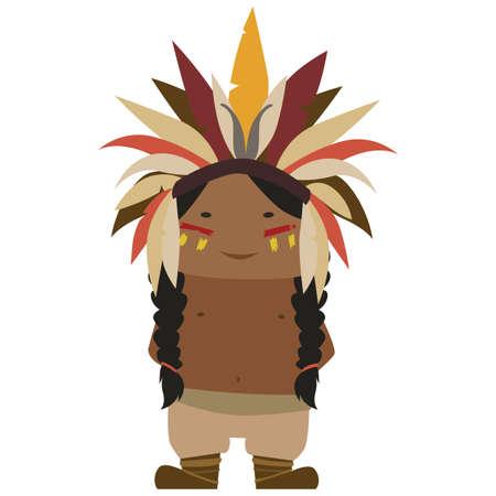 Cartoon image of a Native American