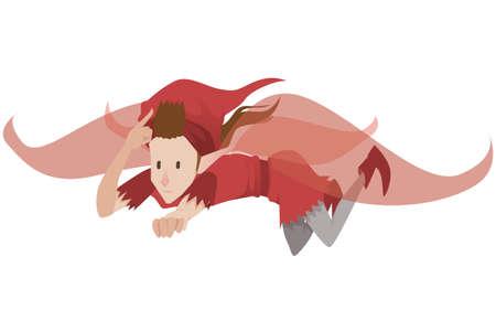 Image of a flying boy elf