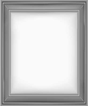 Nice design gray picture frame vector illustration. Ilustração