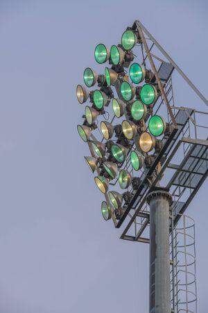 outdoor lighting: outdoor sportlight starting begin lighting