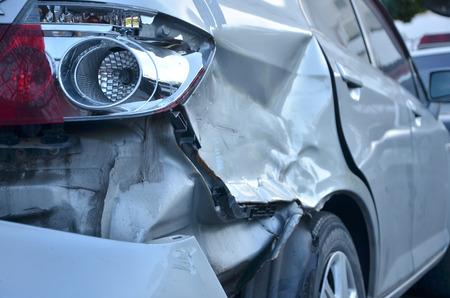 auto-ongeluk Stockfoto