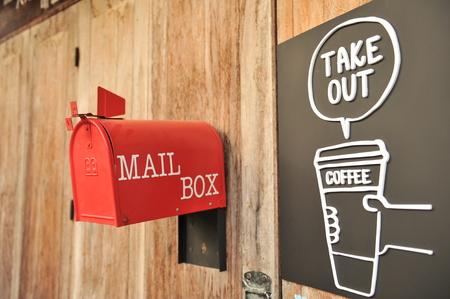 metal mailbox: post box