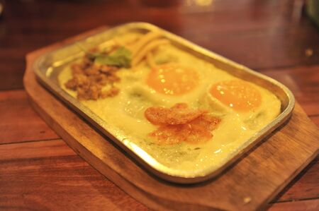 omlet: egg dish Stock Photo