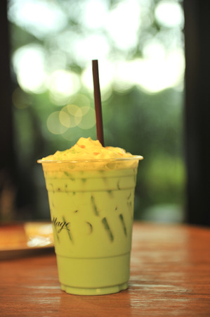 frappe: green tea frappe ice Stock Photo