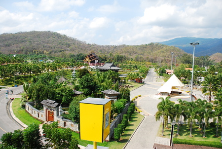 the royal park: Royal Pavilion in Royal Park Rajapruek in chiangmai thailand