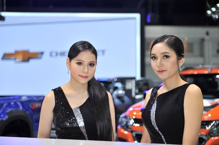 BANGKOK-NOVEMBER  pretty moter expo at The 35nd Motor expo 2018 on november 28, 2018 in Bangkok, Thailand