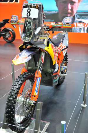 BANGKOK-july 15  ktm motorcycles at The41th Bangkok International Motor Show 2020 on july 15, 2020  in Bangkok, Thailand