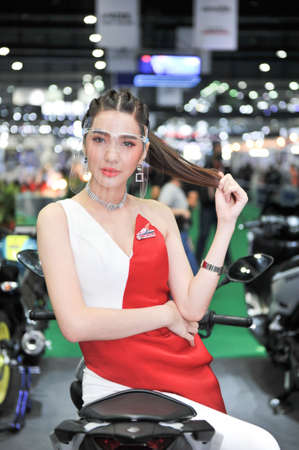 BANGKOK-july 15 pretty at The41th Bangkok International Motor Show 2020 on july 15, 2020  in Bangkok, Thailand Editorial