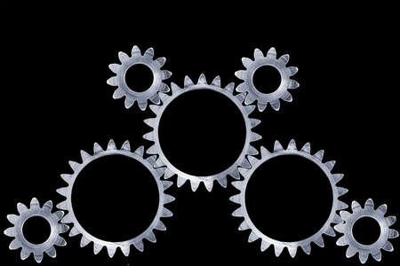 meshing: Meshing gears with clipping paths.