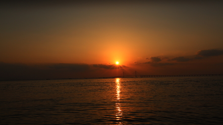 Golden sunset background.