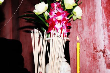 to burn incense Stock Photo