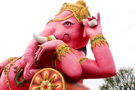 pink statue of ganesh photo