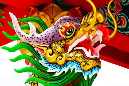 statuary dragon Stock Photo