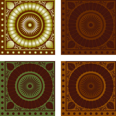 quadrate: Pattern quadrate gold symmetrical for textures