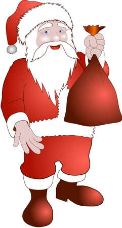 Santa Claus isolated for design