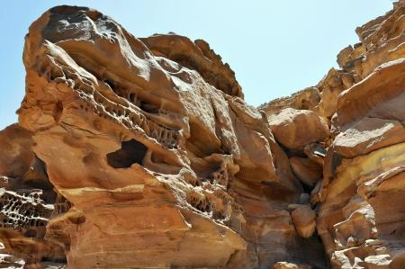 sinai desert: Egypt, the mountains of the Sinai desert, Colored Canyon   Stock Photo