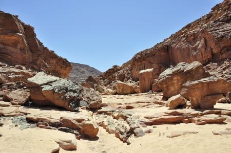 sinai desert: Egypt, the mountains of the Sinai desert, Colored Canyon