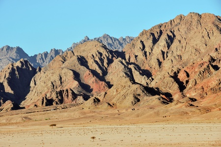 sinai desert: the mountains of the Sinai desert Stock Photo