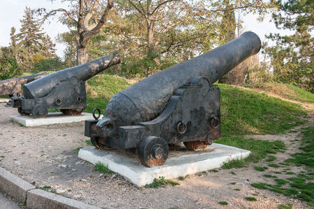 nuclei: The old cast-iron cannon, shooting nuclei during the Crimean War