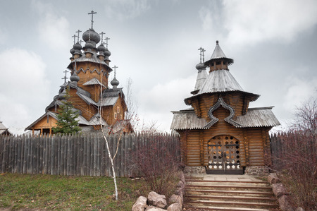 godlike: Ukraine, the church was built of logs, Saints monastery Svyatogorskaya laurels