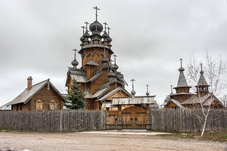 godlike: Ukraine, the church was built of logs, Saints monastery Svyatogorskaya laurels