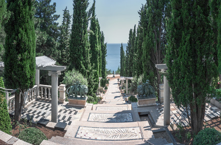 crimea: Landscaped parkland in the village Partenit  Ukraine, Crimearaine, Crimea