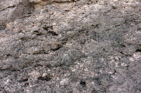 designated: Image of the surface designated rock in the foreground, cracked, chipped, deepening Stock Photo