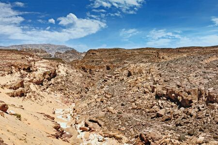 sinai peninsula: Egypt of the Sinai Peninsula mountains Colored Canyon Stock Photo