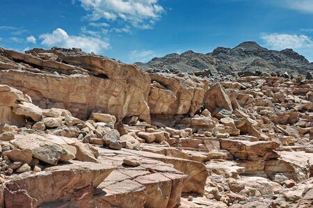 excursions: Egypt of the Sinai Peninsula mountains Colored Canyon Stock Photo