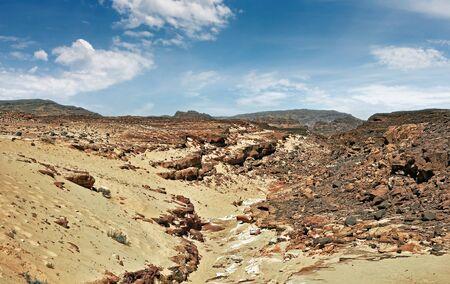 sinai: Egypt of the Sinai Peninsula mountains Colored Canyon Stock Photo