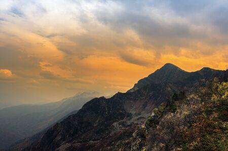 vertex: Mountain peaks of the Caucasus at Krasnaya Polyana, the village Rosa Khutor, winter sports resort of Sochi, Krasnodar Krai, Russia