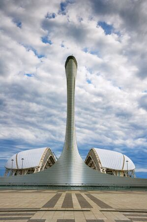 olympiad: Architecture, construction, buildings in the Olympic Park of Sochi