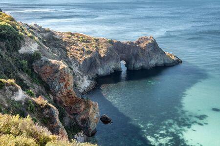 Rocky Coast, Diana's Grotto, Cape Fiolent, Sevastopol, Crimea, Russia
