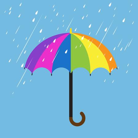 rainbow umbrella: Rainbow color umbrellas Illustration