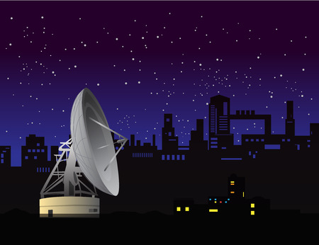 array: Satellite dish , array vector background