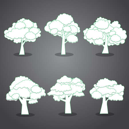 abstract trees, Natural illustration