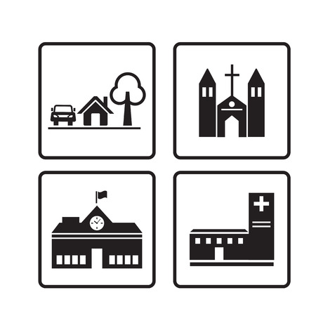 home icon,Houses icons set